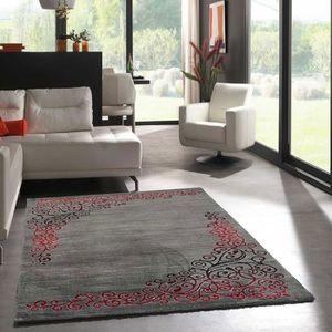 Tapis salon rouge et gris achat vente tapis salon rouge et gris pas cher soldes d s le 10 - Salon rouge et gris ...