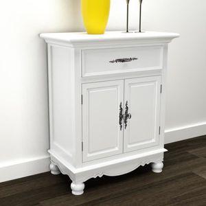 Petit meuble de rangement 2 portes 2 tiroirs achat for Petit meuble blanc a tiroir