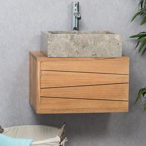 meuble de salle de bain suspendu en teck cosy 5 Résultat Supérieur 17 Merveilleux Meuble sous Vasque Bois Pas Cher Photographie 2018 Kgit4