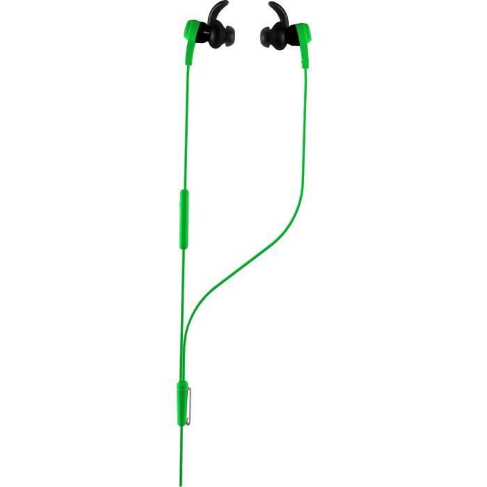 Design de cordon réfléchissant à l'épreuve de la sueur - Embouts ergonomiques et écouteurs inclinésCASQUE - ECOUTEURS