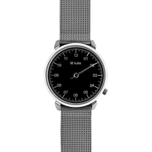KULTE - Montre Mixte Acier Noir 36mm KU15-0009