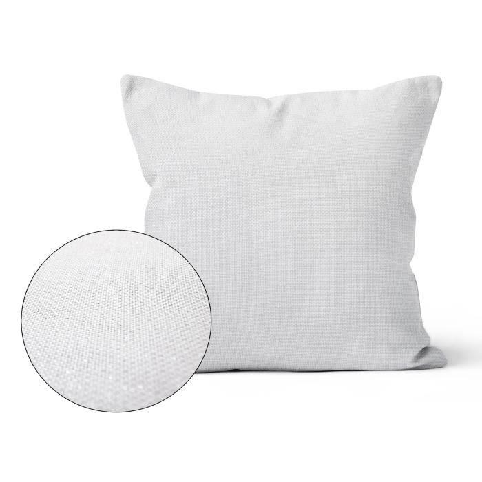 SOLEIL D'OCRE Coussin décoratif déhoussable BELLA 40x40 cm - Blanc