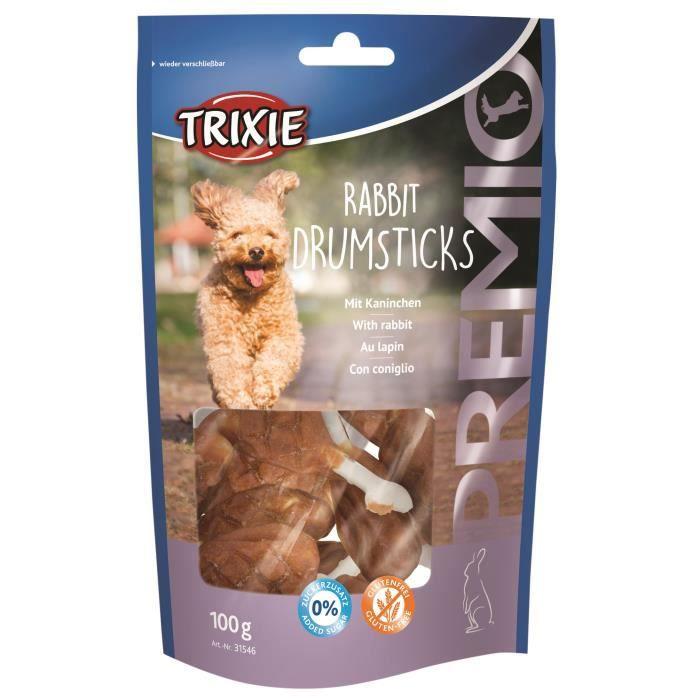 TRIXIE Rabbit Drumsticks Premio 8 pièces - 100g - Pour chien