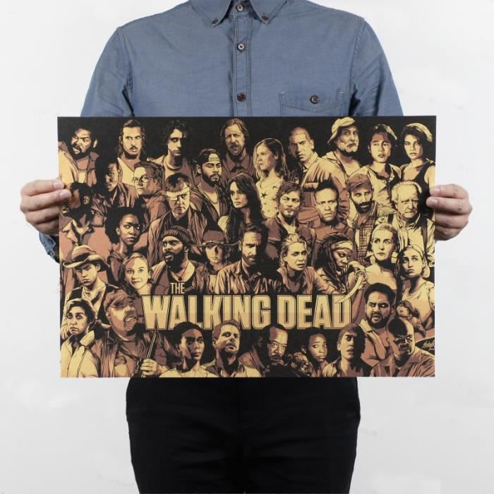 poster the walking dead achat vente poster the walking dead pas cher cdiscount. Black Bedroom Furniture Sets. Home Design Ideas