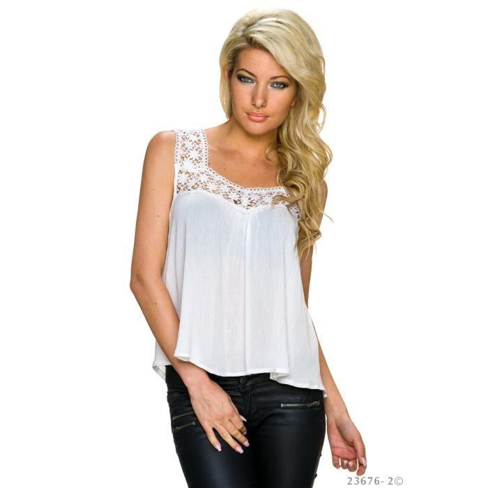 top chemise blouse dos nu ouvert blanc chic femme achat. Black Bedroom Furniture Sets. Home Design Ideas