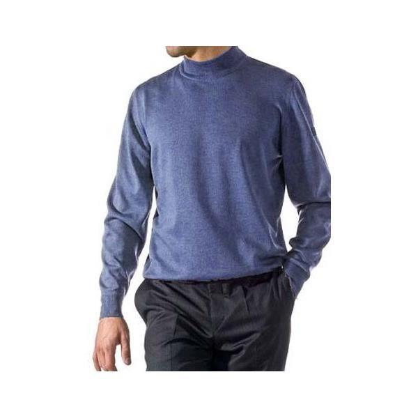 Pull Merinos Col Cheminée Bleu - Achat   Vente pull - Cdiscount 313ee647e45c