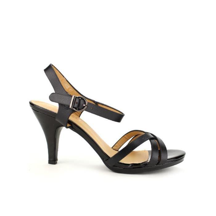 Cendriyon Nu Femme Sandale Sandales pieds Noir Chaussures wXUYqrFdYx