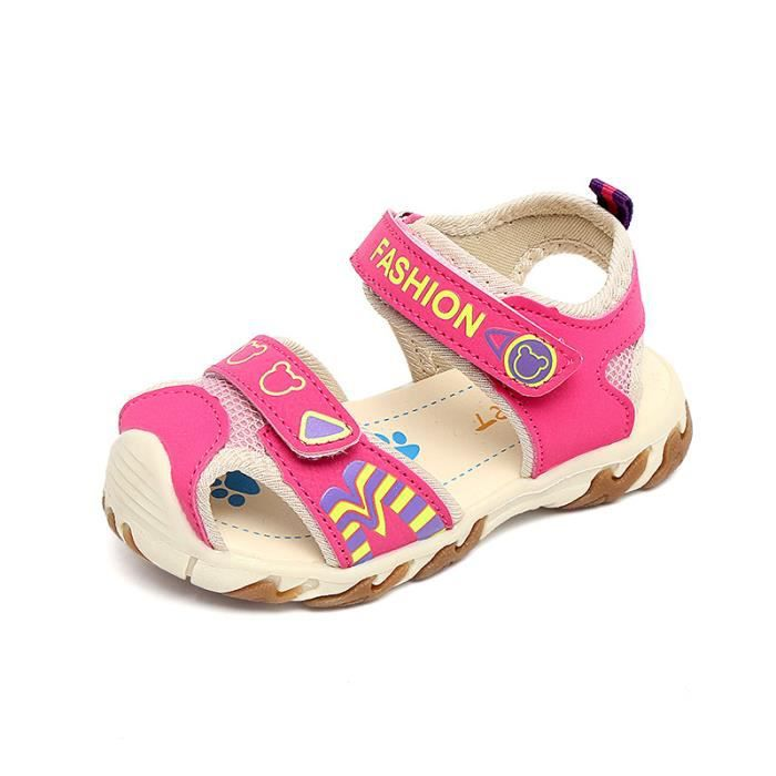 1966ba8cbe824 Enfant Sandales Bébé Garçons fille Velcro Chaussures pour enfants ...