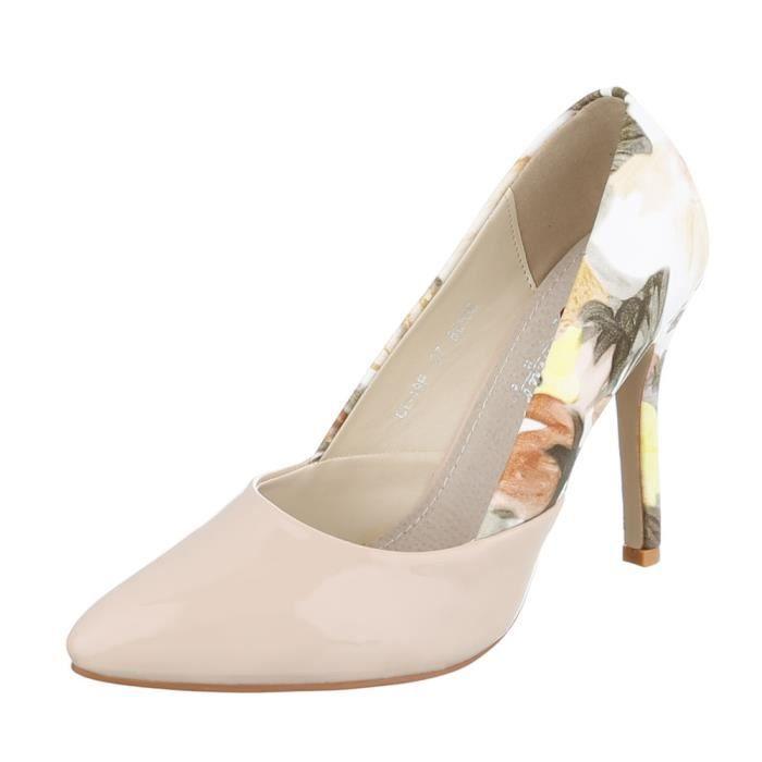 Bleu Escarpin Chaussures Multi Beige Heels High noir 40 Femme qI1gxwU6nw