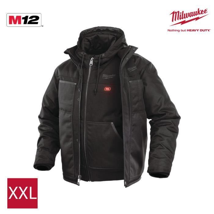 Milwaukee 3in1 0 Xxl Blouson Sans Hj Chauffant Taille M12 Noir lF1cuTK3J