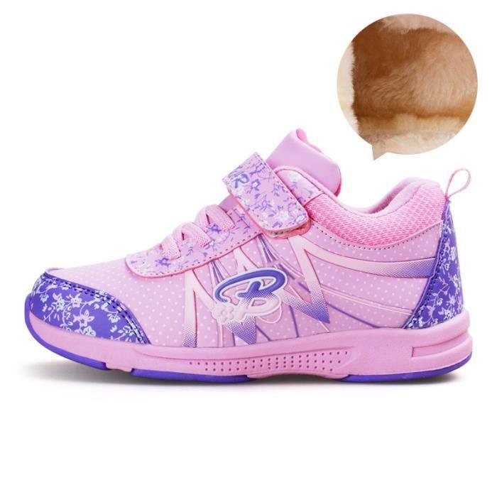 Basket Enfant hiver Sport Plus cachemire Ultra léger Chaussure BYLG-XZ211Violet28-1 klwkfuXXP