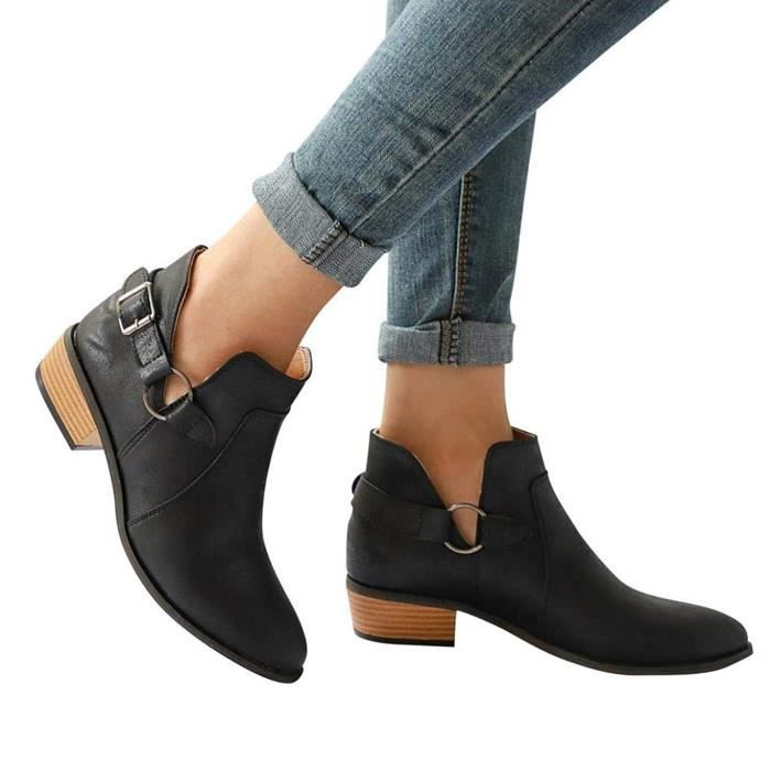 Cher Boots Achat Femme Cuir Vente Pas wwZXgr