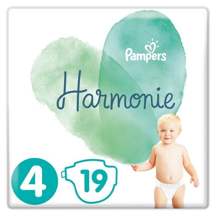 COUCHE PAMPERS Harmonie Taille4, 9-14kg, 19Couches