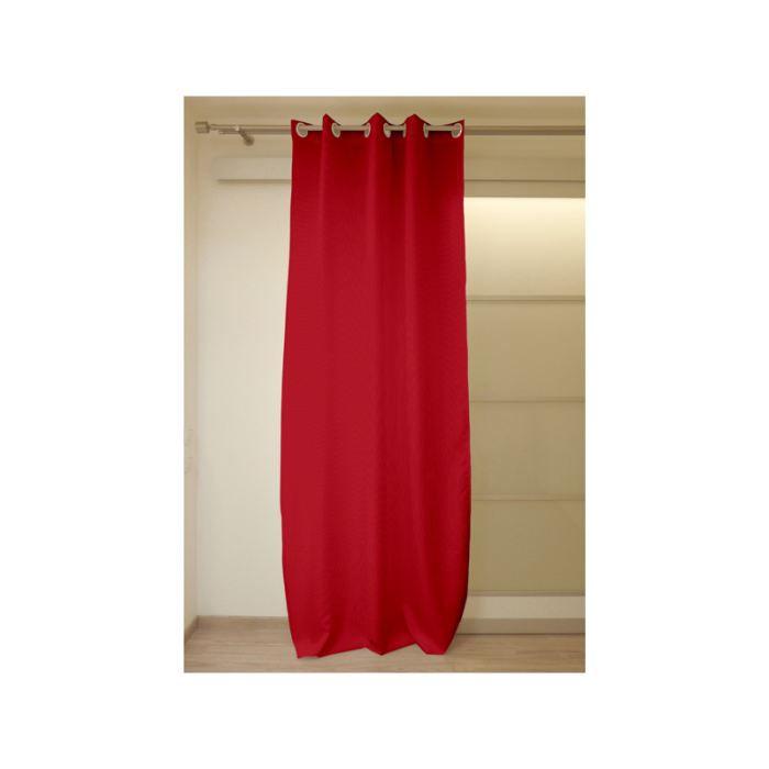 Rideau à; oeillets COSY rouge - Achat / Vente rideau Textile, 100 ...