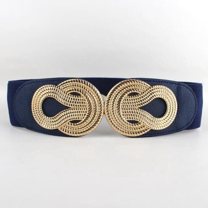 ... PU cuir ceinture large. CEINTURE ET BOUCLE Élastique cummerbunds femmes  à la mode le plus réc 4c4eec9b0ad