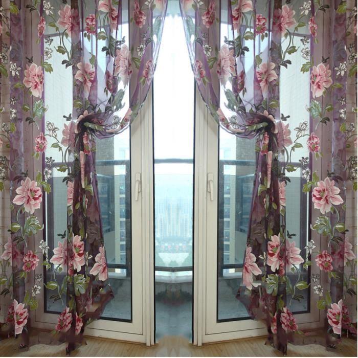 rideaux avec motifs achat vente pas cher. Black Bedroom Furniture Sets. Home Design Ideas