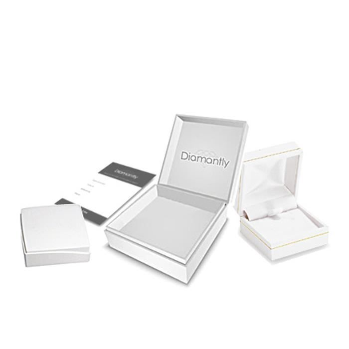 DIAMANTLY Collier en or gris 750 forcat diamante 1.7 mm - 50 cm