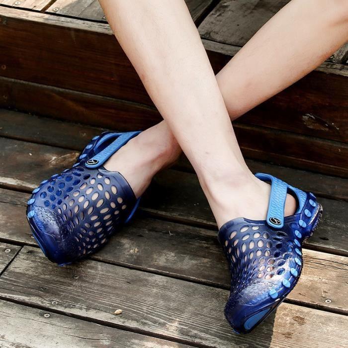 Les Hommes Sandales Simple Lumière moderne souple respirante extérieur plat Shoea