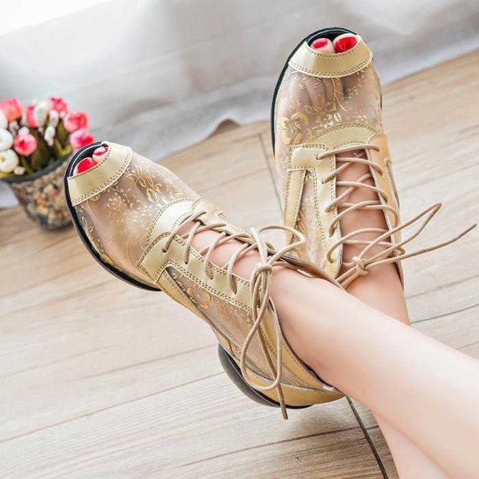 2016 Nouveau Compensées haut talon Chaussures plateforme Pompes pour les femmes Derbies Casual Sexy Chaussures Femme Printemps Eté 578kt