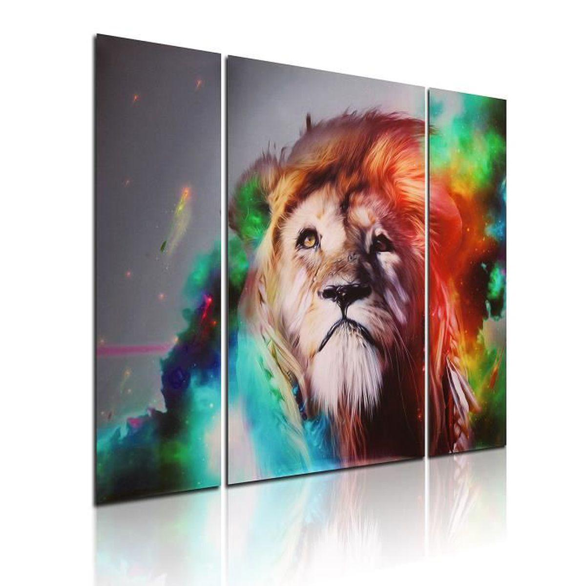 tableaux peinture sur toile tigre achat vente tableaux peinture sur toile tigre pas cher. Black Bedroom Furniture Sets. Home Design Ideas