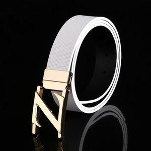 Fashion business cuir lisse boucle de ceinture en cuir ceinture en cuir  gaufré-de-chaussée Les hommes nouveaux 30dc1248c79