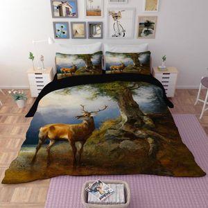 housse de couette cerf achat vente pas cher. Black Bedroom Furniture Sets. Home Design Ideas
