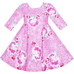 3381ddb19aed1 ROBE Sunny Fashion Robe Fille Rose Flower Print Manches