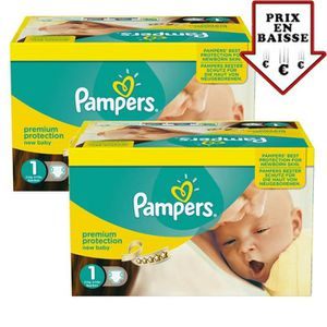 COUCHE Giga pack 345 Couches Pampers New Baby taille 1