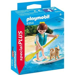 FIGURINE - PERSONNAGE PLAYMOBIL 9354 - Family Fun - Sportive avec paddle
