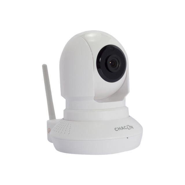 CHACON Caméra de surveillance connectée IP Wi-Fi rotative à usage intérieur