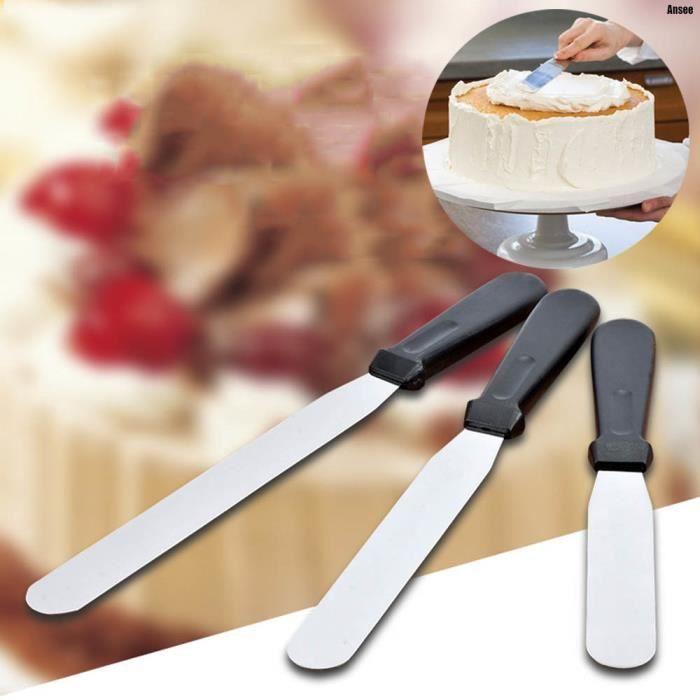 3 pcs g teau spatule ustensile de cuisine acier inoxydable professionnel ustensile patisserie - Ustensile de cuisine maryse ...