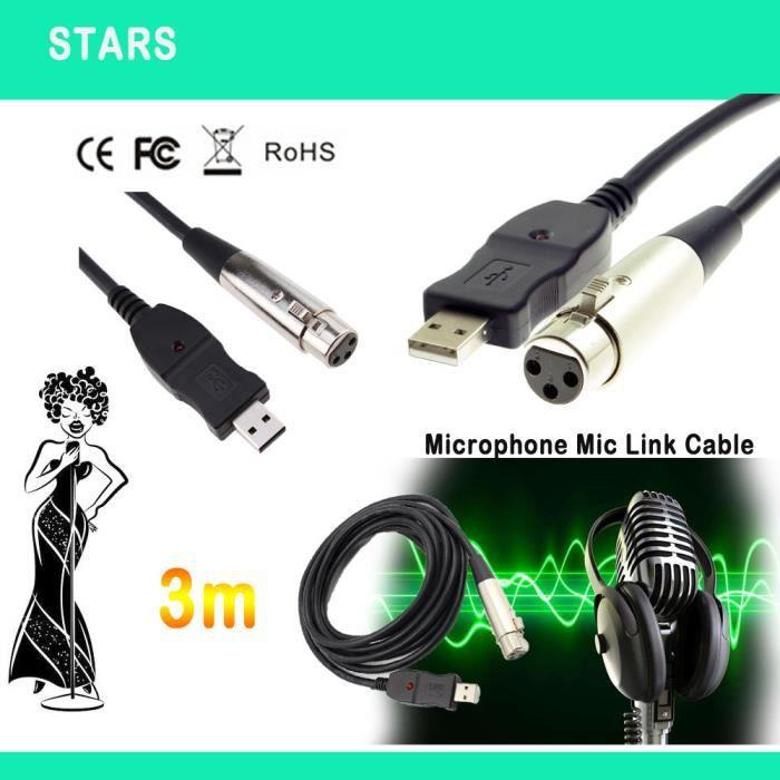 Cable xlr usb - Achat / Vente pas cher