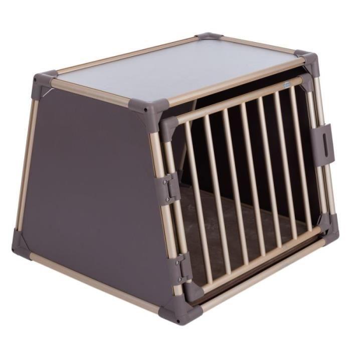 Cage de transport Trixie en aluminium édition zooplus, champagne l 86 × P  75 × H 64 cm (taille L) 8328f71b15ee