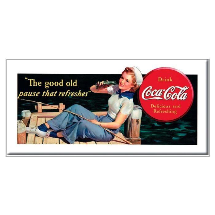 plaque affiche pub coca cola old pause achat vente affiche m tal cdiscount. Black Bedroom Furniture Sets. Home Design Ideas