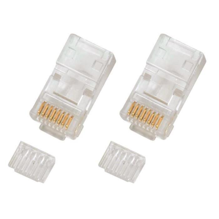 Connecteur rj45 8 8 cat 6 avec peigne 10 achat vente - Cable telephonique rj45 ...