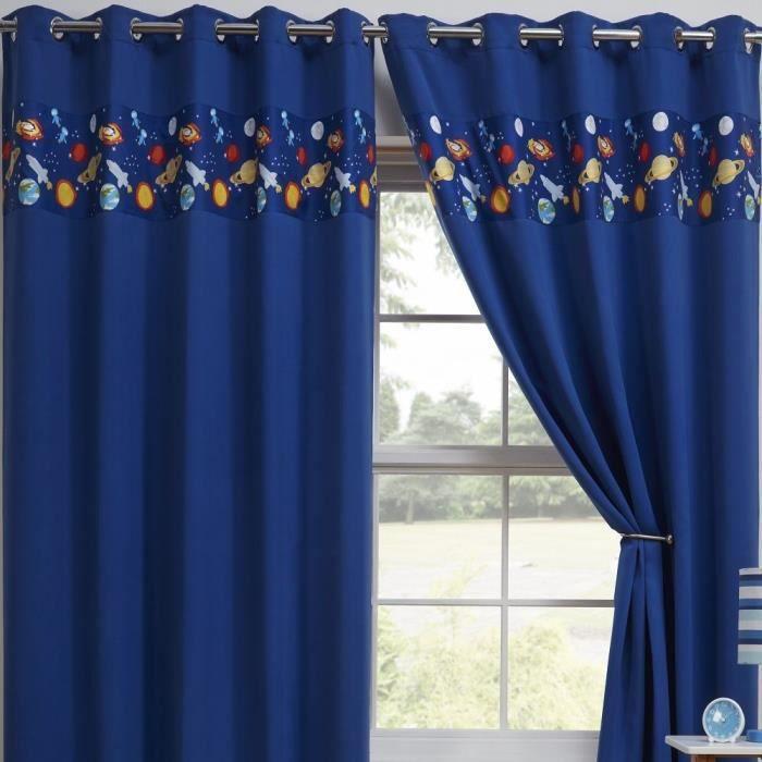 rideau tonys textiles lots de 2 rideaux occultants pou