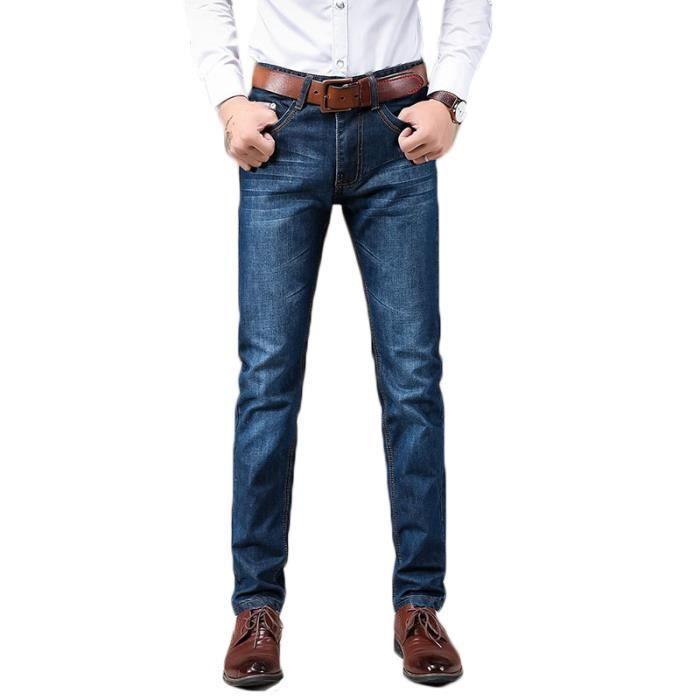 Jeans Bleu Mode Slim Homme bleu En Hommes 48 D'affaires Taille Jean wt6THUSqxx
