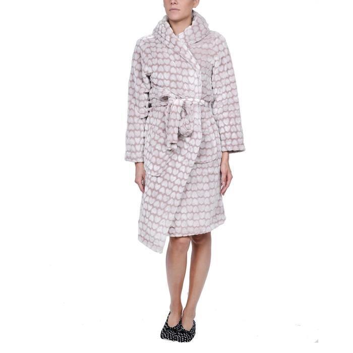 robe de chambre polaire femme pas cher good robe de chambre en molleton polaire cm with robe de. Black Bedroom Furniture Sets. Home Design Ideas