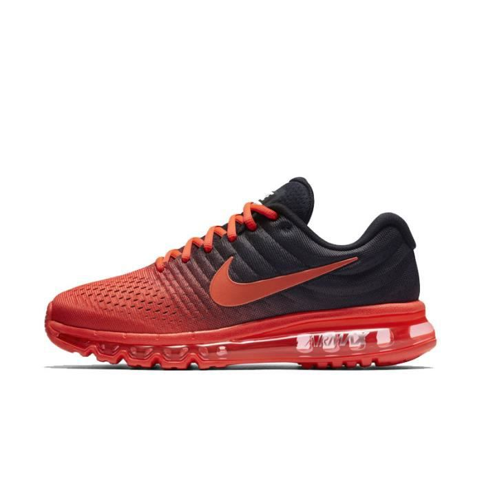 NIKE Airmax 2017 Homme Basket Running Chaussures Rouge et Noir 849559-600 23e675609016