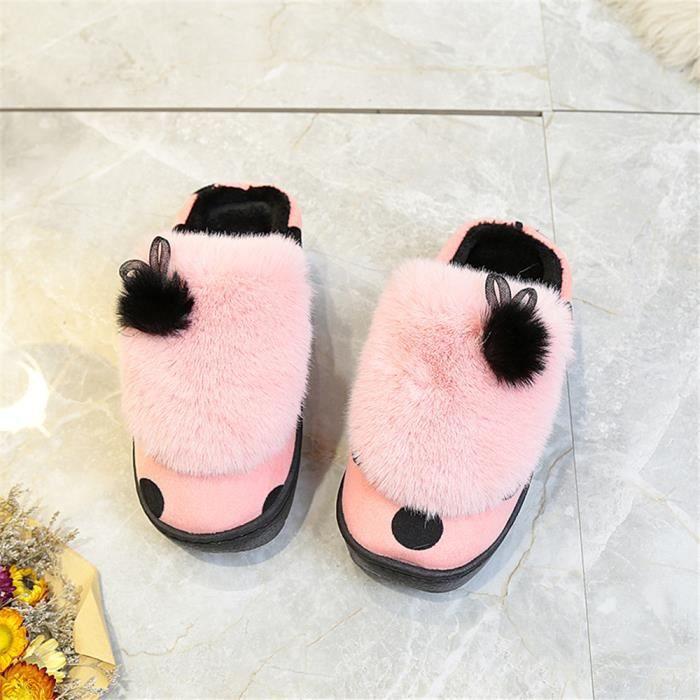 Femmes Chausson Nouvelle Mode Mode Chausson Plus De Cachemire Chaussure Doux Marque De Luxe 35-40 E9rJBO