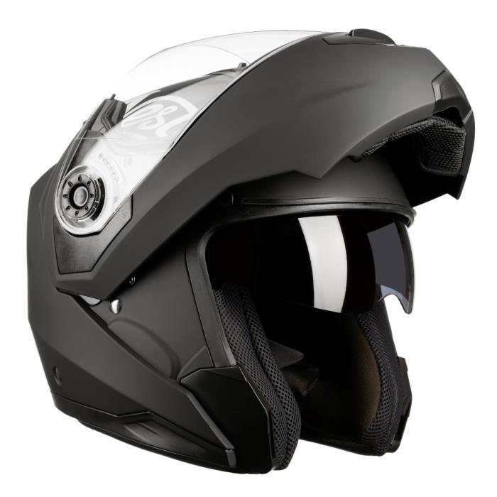 Westt Casque Moto Modulable Integral Torque Z Noir Mat Ece Homme