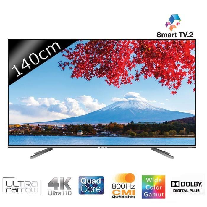 thomson 55ua7706 smart tv led uhd 4k 3d 140cm t l viseur. Black Bedroom Furniture Sets. Home Design Ideas