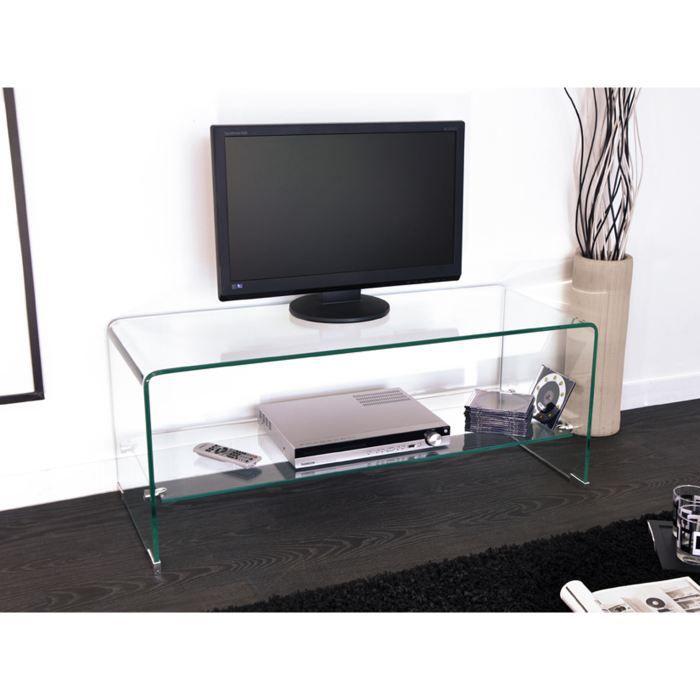 meuble tv en verre courb yael 4 achat vente meuble tv meuble tv en verre courb y verre. Black Bedroom Furniture Sets. Home Design Ideas