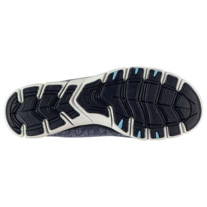 Skechers Femme Baskets De Running Lacets Elastiques Imprimé