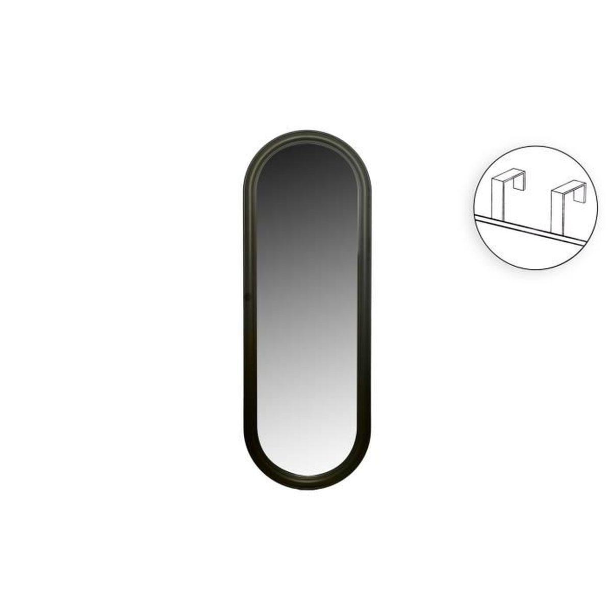 MIROIR Miroir de porte ovale à suspendre - 37 x 107 x 2 c