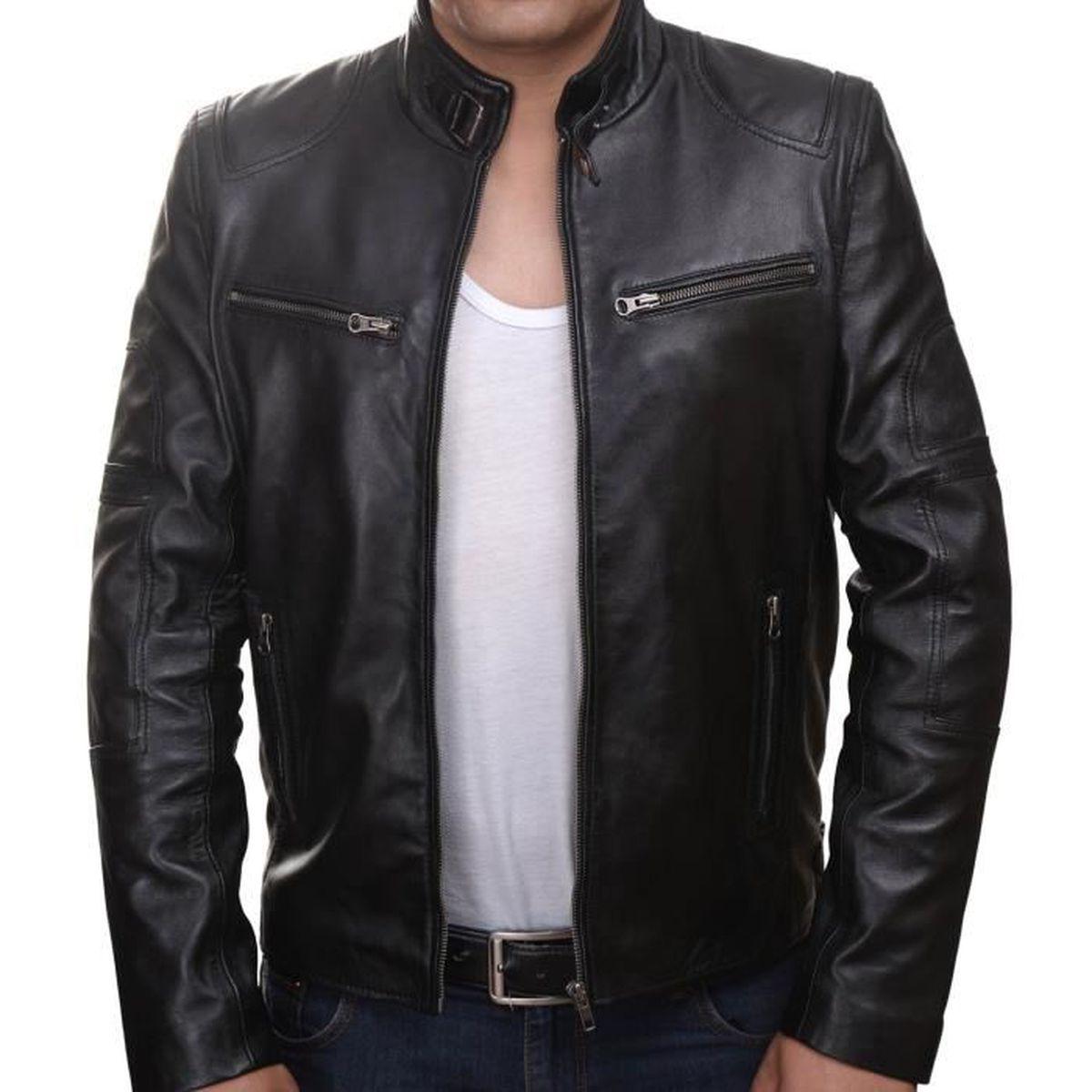 81a166157c8 Veste cuir veritable homme - Achat   Vente pas cher