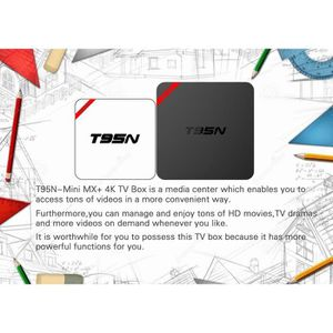 BOX MULTIMEDIA T95N Fully Loaded Android 6.0 Quad Core S905X WIFI