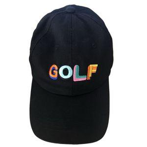 CASQUETTE Casquette de baseball noire avec lettres de golf n