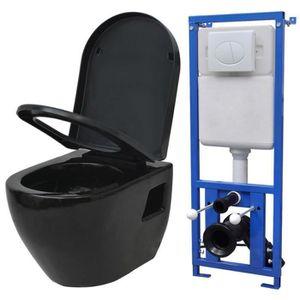 WC - TOILETTES Cuvette Céramique WC Toilette Suspendue au Mur ave