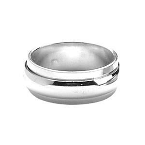 ALLIANCE - SOLITAIRE ALLIANCE ANTI-STRESS HOMME 8mm ARGENT